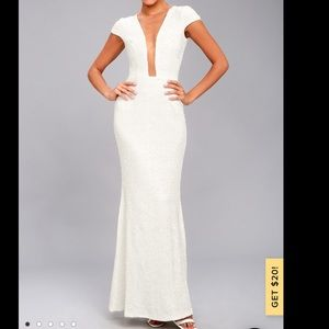 NWT Dress The Population Michelle White Sequin